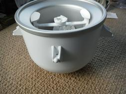 ice cream maker attachment white stainless 2