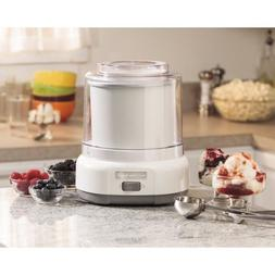 Ice Cream Maker Electric Machine White 1.5 Qt Frozen Yogurt