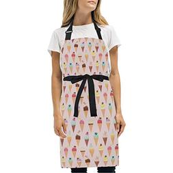 Jonassk Woolffk Ice Cream Summer Pink Apron Adjustable Profe