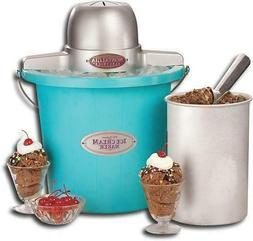 Nostalgia ICMP400BLUE 4 Quart Electric Ice Cream Maker - Blu