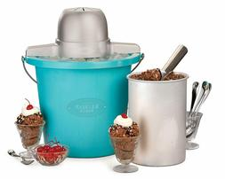 ICMP400BLUE 4-Quart Electric Ice Cream Maker with Easy Carry