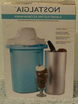 Nostalgia ICMP600BLUE 6-Quart Electric Ice Cream Maker kitch