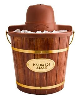 Nostalgia Electrics ICMW-400 4-Quart Wooden Bucket Electric