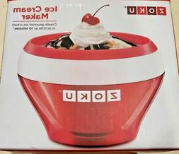 Zoku Instant Ice Cream Maker With Red Bowl & Spoon Gelato So