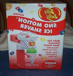 Jelly Belly SNO MOTION Ice Shaver Snow Cone Machine Includes