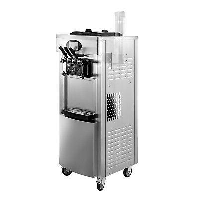 Commercial 3 Flavors Soft Ice Cream Machine Ice Cream Maker