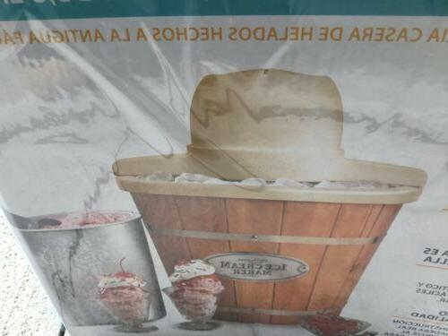 Nostalgia 4-Quart Bucket Ice ICMP400WD old