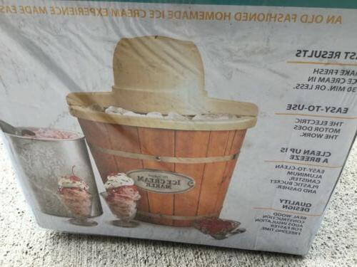 Nostalgia 4-Quart Wood Bucket ICMP400WD