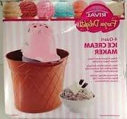 Rival 4-Quart Ice Cream Maker STRAWBERRY PINK