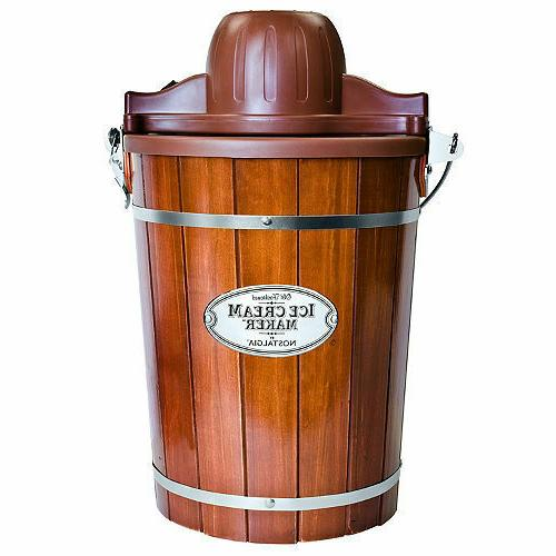 6 quart wood bucket electric ice cream