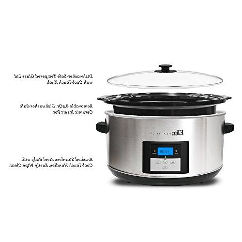Elite 8.5 Slow Cooker with Stainless Steel