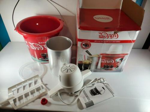 Nostalgia ICMP400COKE Coca-Cola Ice Cream Maker, 4-Quart, Co