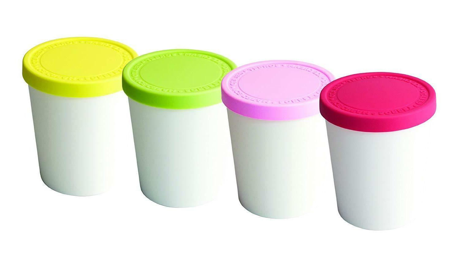 Tovolo Tight-Fitting, Easy Stacking, Mini Sweet Treat Tubs,