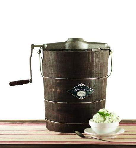White Hand Ice Maker Appalachian Series Wooden Bucket, 4 Quart