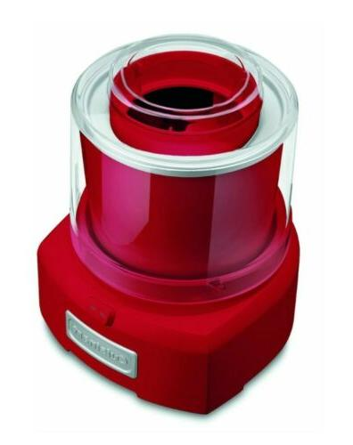 Cuisinart Automatic Sorbet and Ice Maker 1.5-Quart Red