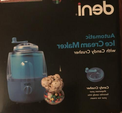 automatic ice cream maker with candy crusher