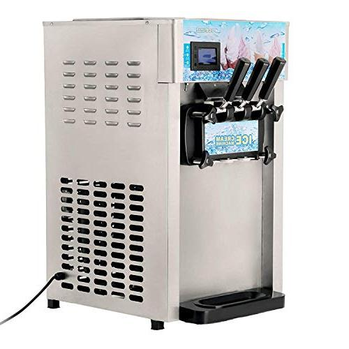 VEVOR Commercial Ice Cream Machine 4.75Gal/H Maker for Coffee Shop or Family Party, 1200W
