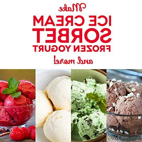 DASH Cream Yogurt & Sorbet Ingredient Double-Walled Freezer Bowl Free Recipes,