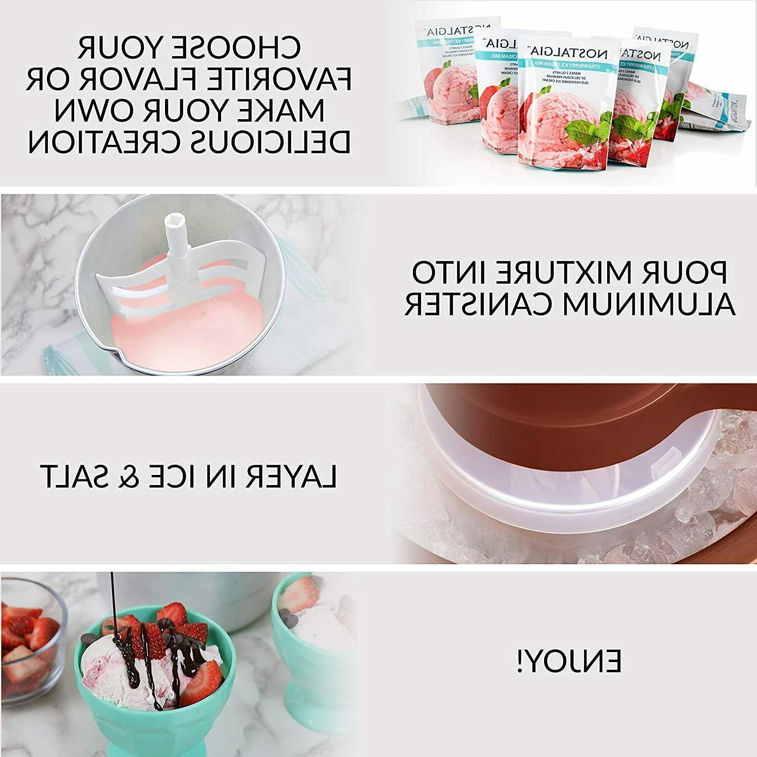 Electric Ice Cream Maker With Makes 4-Quarts in