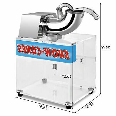 Electric Snow Ice Maker Crusher Dual Blades New
