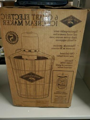 White Electric 6 QUART Maker Freezer.  BOX!