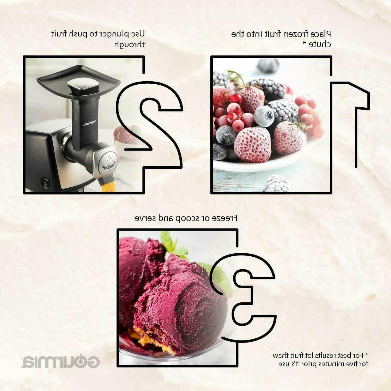 Automatic Healthy Frozen Dessert Maker, Makes Sorbet, Soft-Serve Sherbet