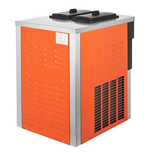 VEVOR 2200W Ice Machine Flavors 5.3-7.4Gallons/H Clean LED Perfect for Restaurants Snack 2200W