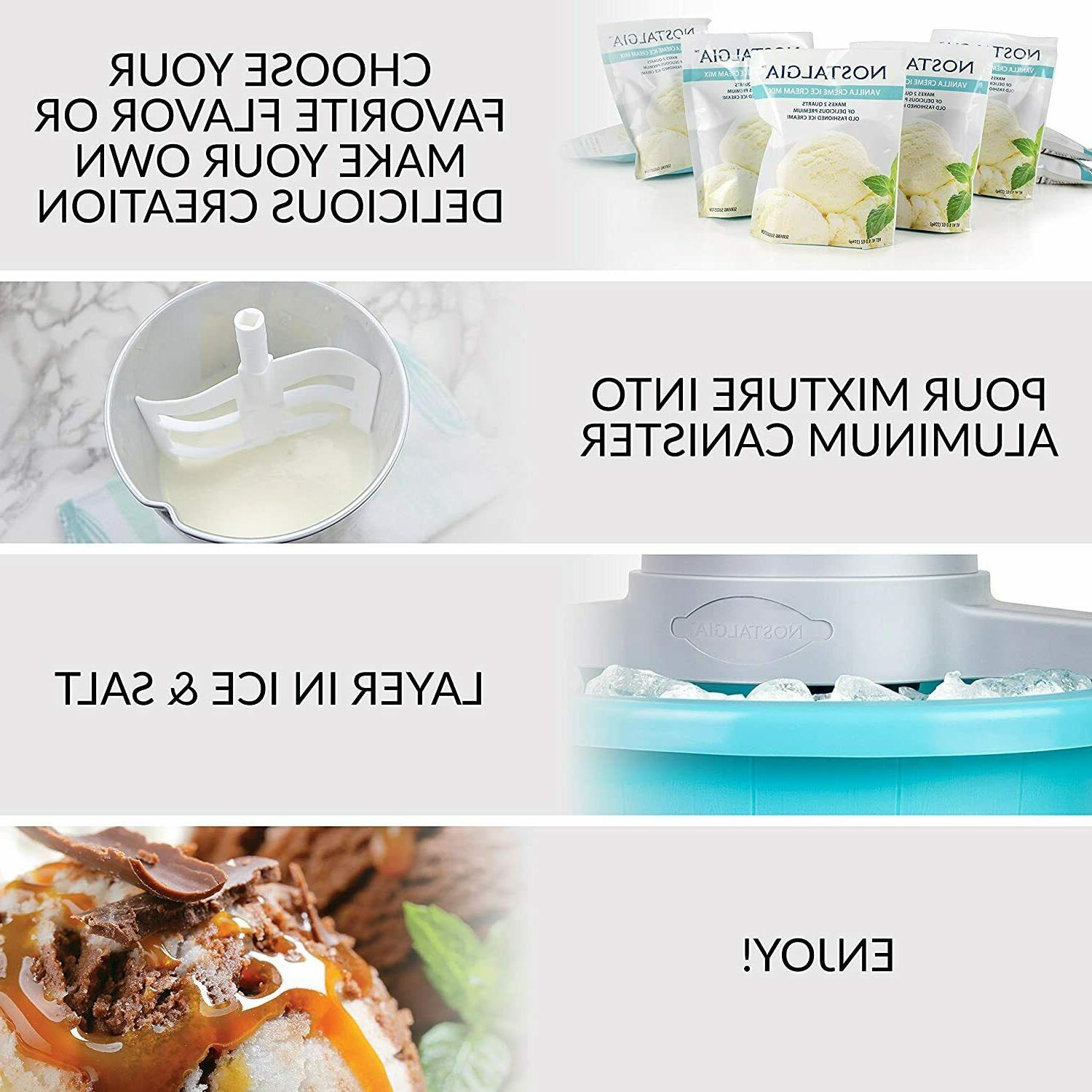 Ice Qt. Lock with Easy Carry Handle Electric Ice Cream Maker