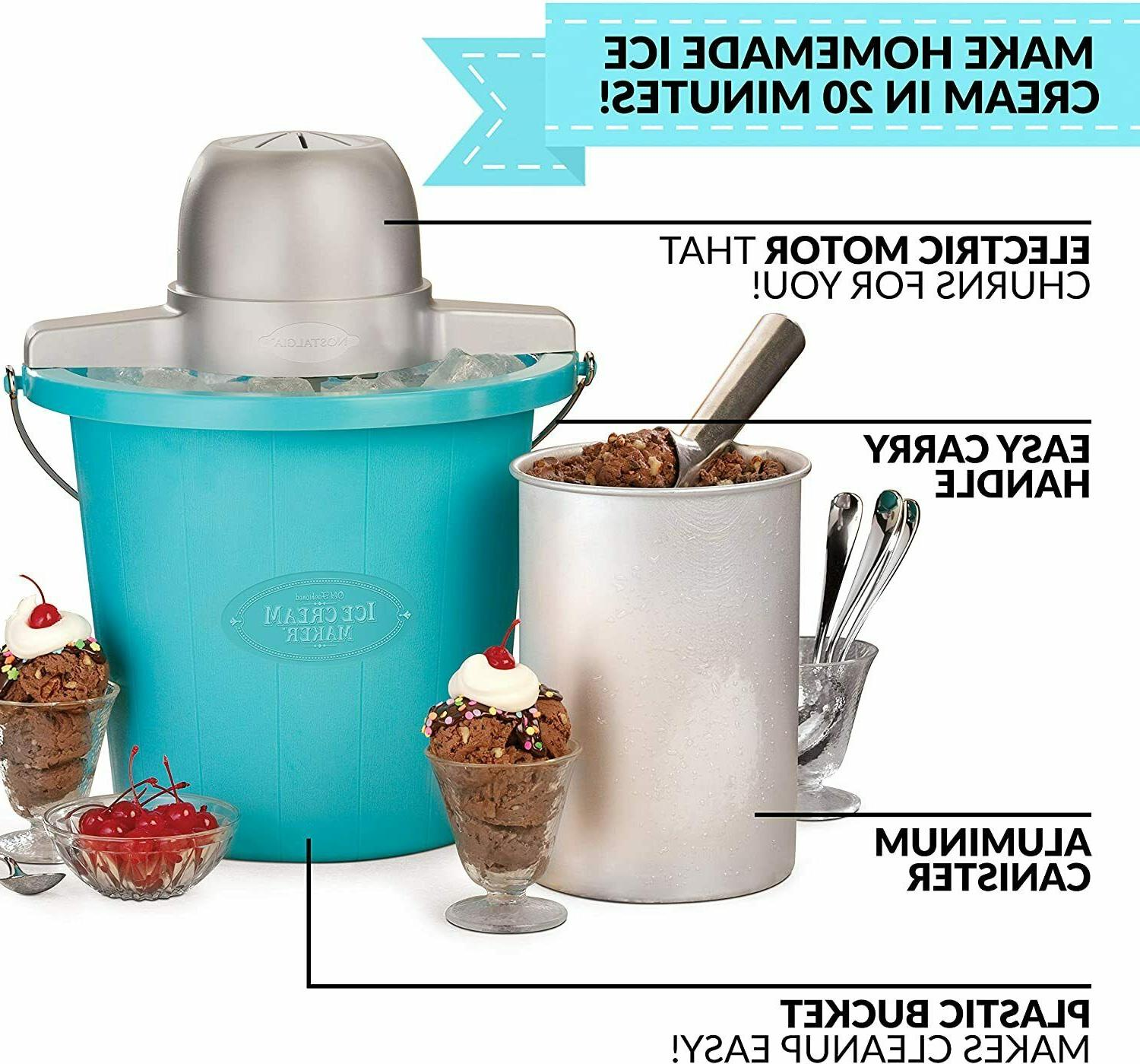 Electric Ice Cream Maker With Easy-Carry Handle 4 Qt In Min