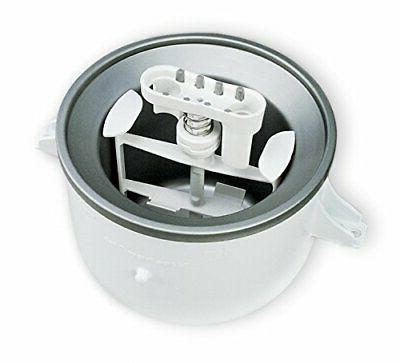 2 Quart Fresh Ice Cream Maker Stand Mixer Attachment Compact