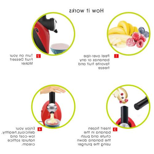 Ice Cream Healthy Sorbet Smoothie Maker