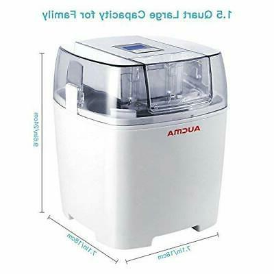 Aucma 1.5 Ice Cream Maker Freezer Bowl Frozen DIY
