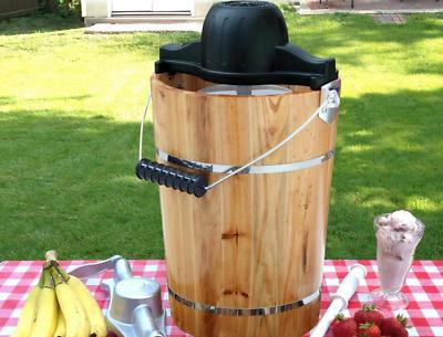 Ice Cream Maker 6 Qt. Old Fashioned, Hand Crank or Electric,
