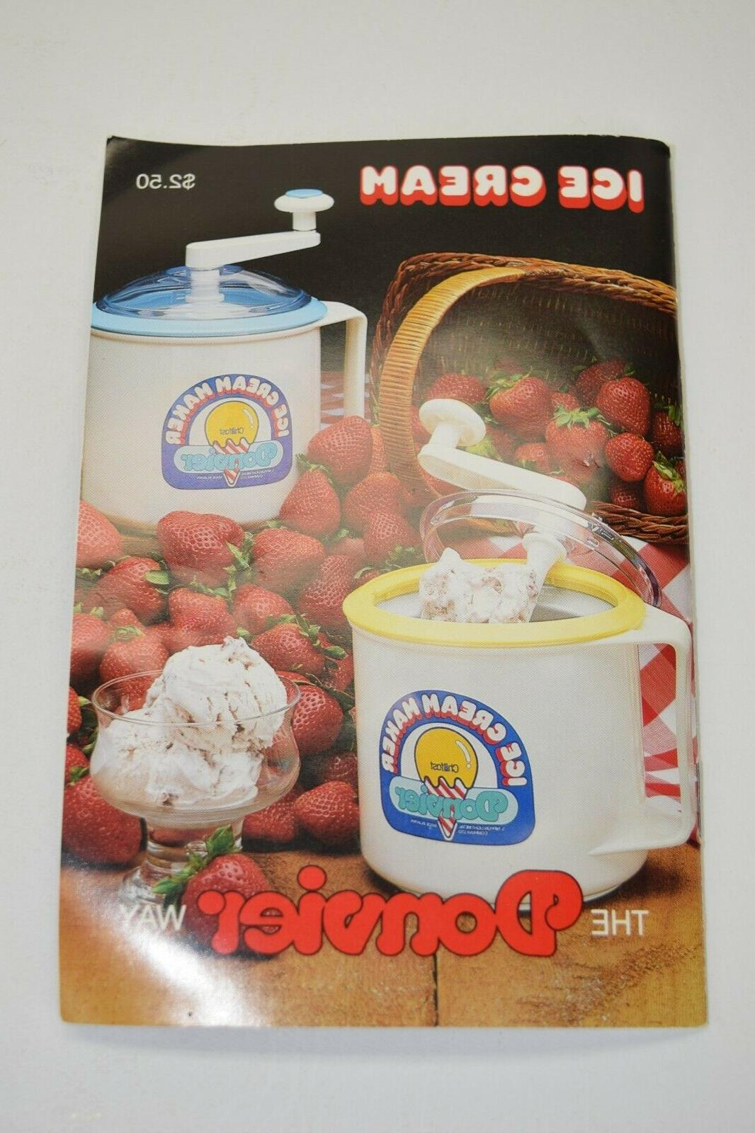 ice cream maker recipe book