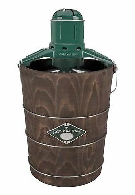 ice cream maker with appalachian series wooden