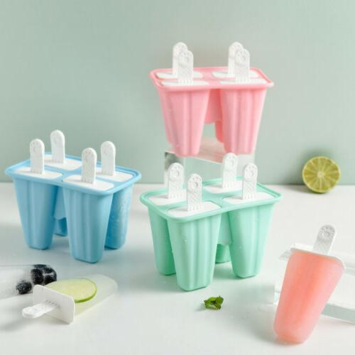 Popsicless Ice Cream Mold Maker Tray Cubess DIY Kitchen Tool