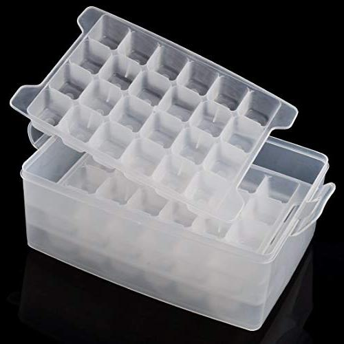 Ice 2 Color Cube Function Tray Box Reusable For Freezer Lids
