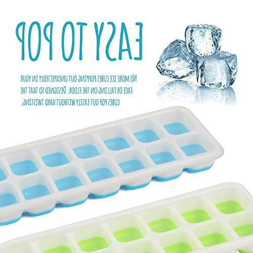 Happy Ice Cube Trays with Lids – Pack of