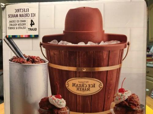 icmw400 4 qt quart electric wooden ice