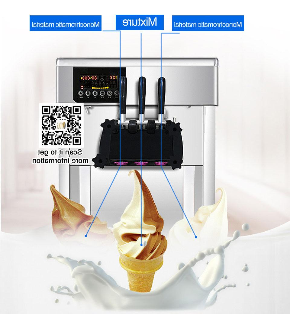 In commercial soft serve ice cream machine soft ice maker