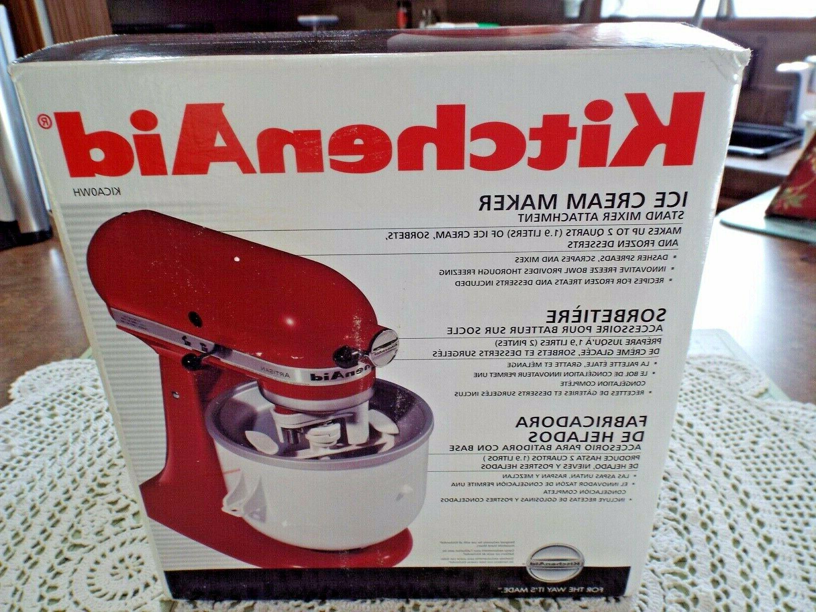 kitchen aid ice cream maker attachment original