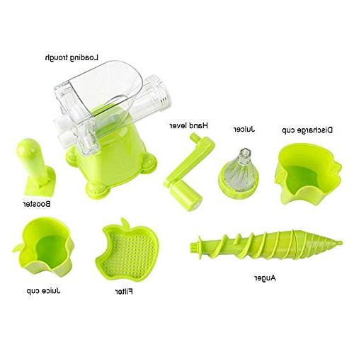 Manual Kitchen Hand Juicer with Suction Kale, Spinach, Ice