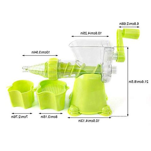 Manual Juicer with Wheatgrass Juicer Kale, Spinach, Ice Maker