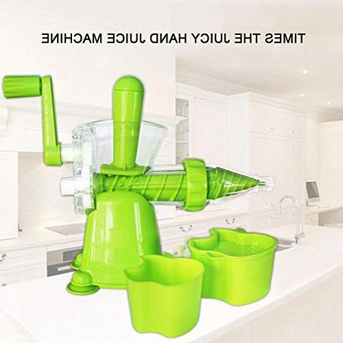 Manual Kitchen Juicer with Wheatgrass Juicer Kale, Spinach, Parsley,Fruit, Ice Maker