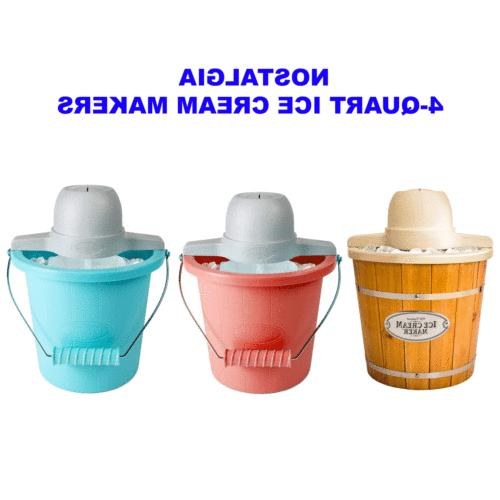 nostalgia ice cream maker 4 quart bucket
