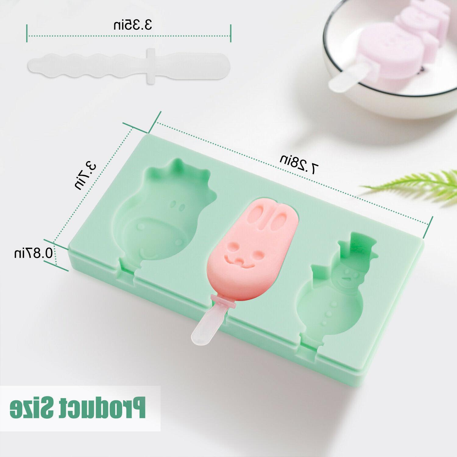 Silicone Ice Cream Mold with Fruit Maker Popsicle