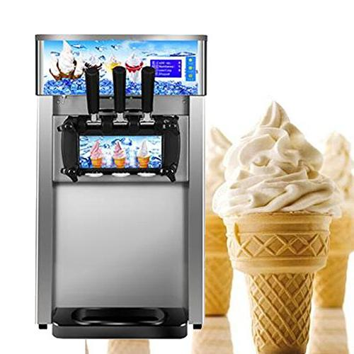 Ice Cream Machine,Vinmax Maker 18L/H Food Grade 304 Stainless Cream Cream Maker for Recreation Center Churches and Camps
