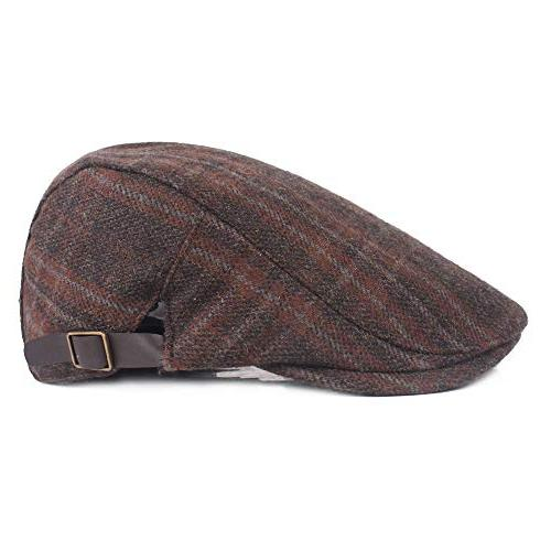 Fashion Spring Autumn Hats For Men Boinas Flat Adjustable Berets