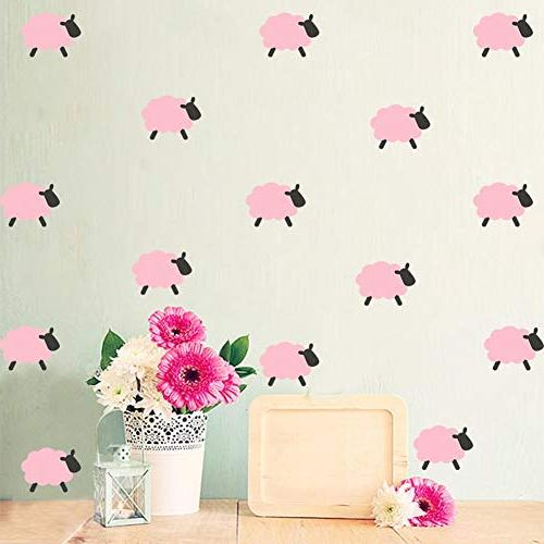 Sticker Room Lovely Sheep Ice Wall Sticker Vinyl Art Stickers Nursery Removable - Fabric Cream Baby