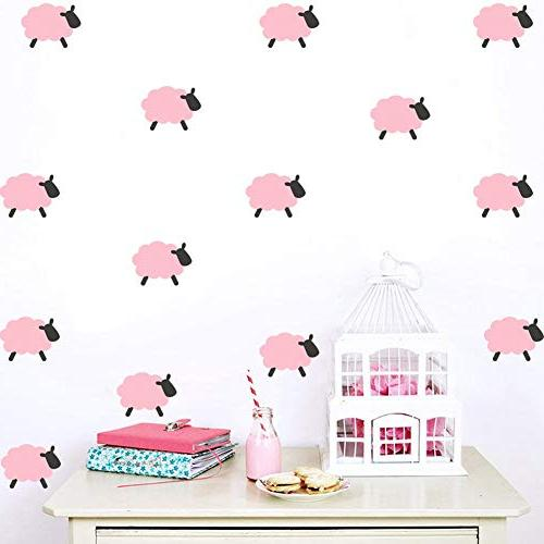 Sticker Kids Room - Lovely Sheep Ice Cream Wall Vinyl Stickers Removable Toy Fabric Cream Decor Nismo Baby Cristiano
